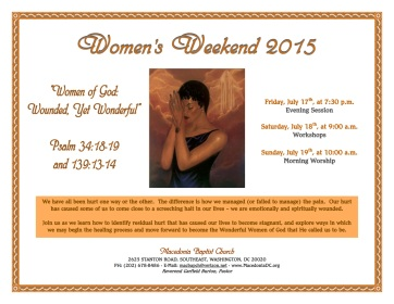 Women's Weekend 2015 Flier (final)